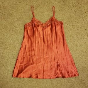 Victoria's Secret Burnt Orange Chemise Babydoll